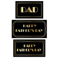 Father's Day Art Deco Frames