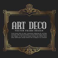 Vintage frame art decostijl. vectorillustratie