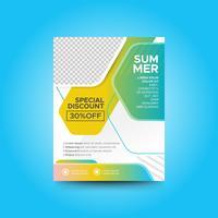 Fashion summer sale flyer template