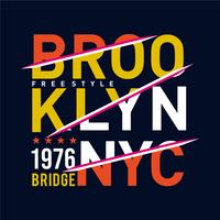 brooklyn-bridge typografieontwerp voor t-shirt