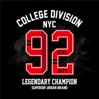 college new york typography t-shirt print other uses vector