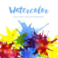 watercolor splashes background vector