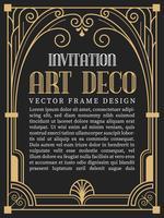 Luxe vintage frame art decostijl. vectorillustratie