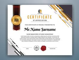 Multipurpose Modern Professional Certificate Template Design vector