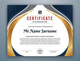 Diseño de plantilla de certificado profesional moderno multiusos