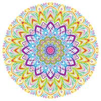 Colorful Mandala Vintage decorative elements, vector illustration.