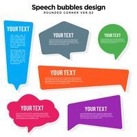 Conjunto de variación de burbuja de discurso