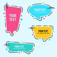 Speech Bubble variation set vector