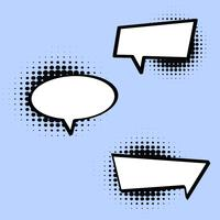 Comic Style Speech Bubble en Vector
