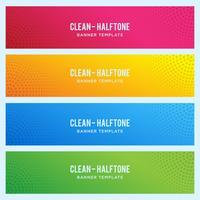Kleurrijke banner met halftone patroon
