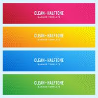Banner colorido con patrón de semitono