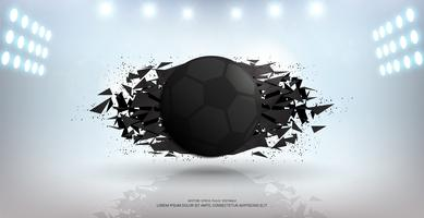 Sport banner background, Realistic graphic design 3d ball element with Copy space for Presentation mockup template.