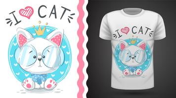 Cute princes cat - idea for print t-shirt