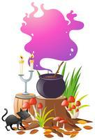 Magische brouwsel in zwarte pot