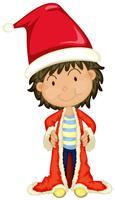 Boy in Santa hat and robe