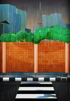 Regnig dag i staden