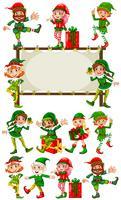 Randschablone mit Weihnachtselfen