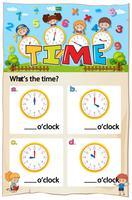 Mathematics Time Chapter Work Sheet