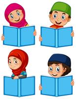 A set of muslim with book