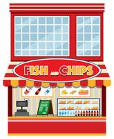 Een fish and chips-winkel