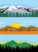 A set of mountain landscape