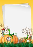 Nature pumpkin house frame