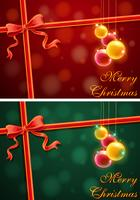 Fond de thème de Noël avec le rouge et le vert