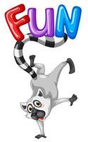 Lindo lemur y palabra divertido