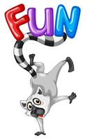Cute lemur and word fun