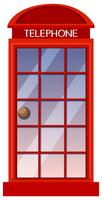 Classic British red phone booth vector
