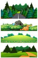 En uppsättning vacker landskapsmall