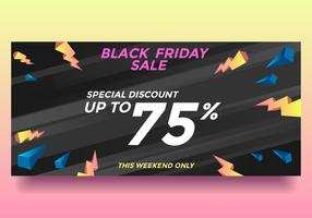 Black Friday Special Discount  Sale Banner Vector