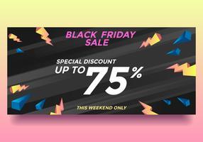 Black Friday Vector Discount vente spéciale bannière