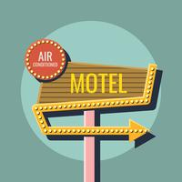 warm and cool color retro sign in sky vector