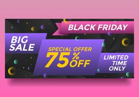 Black Friday grande venda Banner Vector
