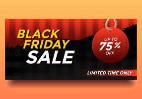 Vecteur de bannière Black Friday vente