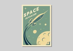 Ilustração em vetor Poster Retro