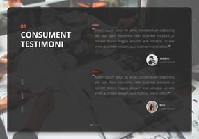 Témoignage de l'interface utilisateur de conception. Consument Testimoni, Revue de client.
