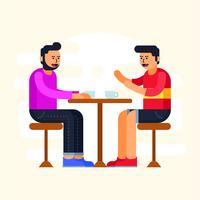 reunión de la cafetería