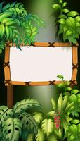 Wooden board in forest vector