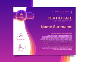 Certificado De Vetor De Modelo De Apreciação