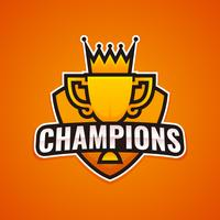 Logotipo de Champions League Sports vector