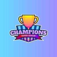 Logo de la liga de campeones vector