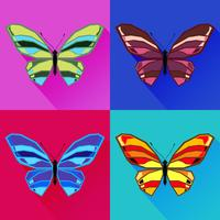 Abstract images of a butterfly