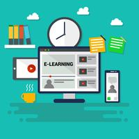 Iconic E-Learning Vector