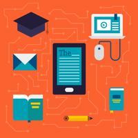 Packung mit E-Learning-Vektor