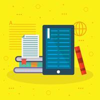 Hochwertiger E-Learning-Vektor