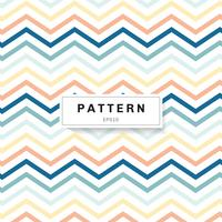 Chevron pattern pastels color on white background. Blue, yellow, pink zig zag.