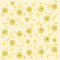Gulligt blommönster