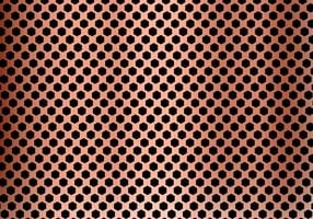 Abstract copper metal background made from hexagon pattern texture. Geometric black and red.
